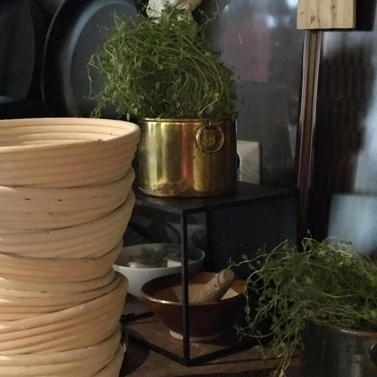 Kurver og urter på PS Bryggekafé