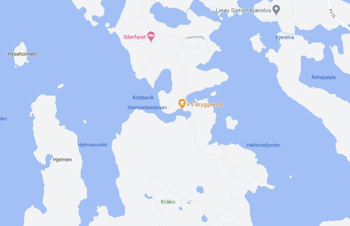 Kråko på Google maps